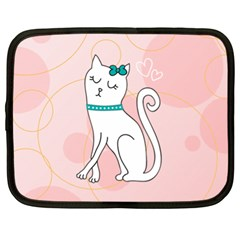 Cute Cat Character Netbook Case (XL)