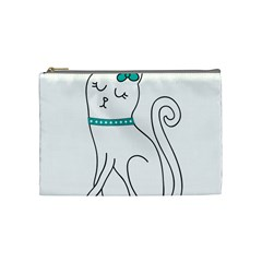 Cute Cat Character Cosmetic Bag (Medium)