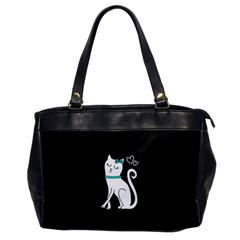 Cute Cat Character Office Handbags