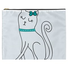 Cute Cat Character Cosmetic Bag (XXXL)