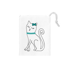 Cute Cat Character Drawstring Pouches (Small)