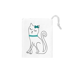 Cute Cat Character Drawstring Pouches (XS)