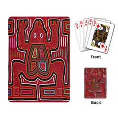 Frog Pattern Playing Card