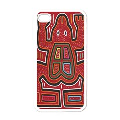 Frog Pattern Apple iPhone 4 Case (White)