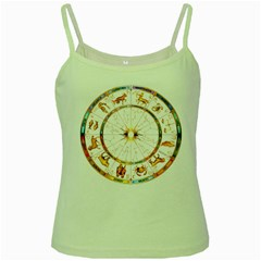 Zodiac Institute Of Vedic Astrology Green Spaghetti Tank