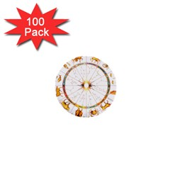 Zodiac Institute Of Vedic Astrology 1  Mini Buttons (100 pack)