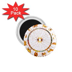 Zodiac Institute Of Vedic Astrology 1.75  Magnets (10 pack)