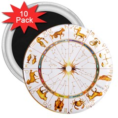 Zodiac Institute Of Vedic Astrology 3  Magnets (10 Pack)