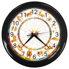 Zodiac Institute Of Vedic Astrology Wall Clocks (Black)