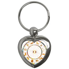 Zodiac Institute Of Vedic Astrology Key Chains (heart)