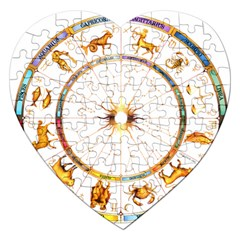Zodiac Institute Of Vedic Astrology Jigsaw Puzzle (Heart)