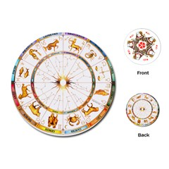Zodiac Institute Of Vedic Astrology Playing Cards (Round)