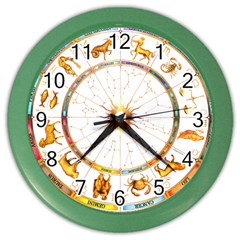 Zodiac Institute Of Vedic Astrology Color Wall Clocks
