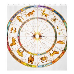 Zodiac Institute Of Vedic Astrology Shower Curtain 66  x 72  (Large)
