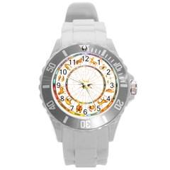 Zodiac Institute Of Vedic Astrology Round Plastic Sport Watch (L)