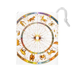 Zodiac Institute Of Vedic Astrology Drawstring Pouches (Large)