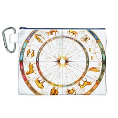 Zodiac Institute Of Vedic Astrology Canvas Cosmetic Bag (XL)