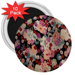 Japanese Ethnic Pattern 3  Magnets (10 Pack)