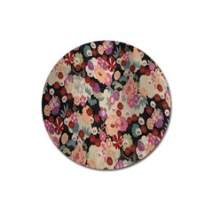 Japanese Ethnic Pattern Magnet 3  (Round)