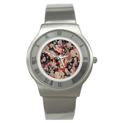 Japanese Ethnic Pattern Stainless Steel Watch