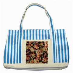 Japanese Ethnic Pattern Striped Blue Tote Bag