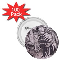 Chinese Dragon Tattoo 1 75  Buttons (100 Pack)