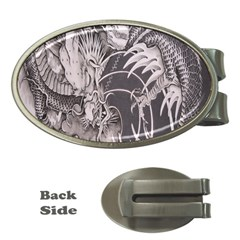 Chinese Dragon Tattoo Money Clips (Oval)