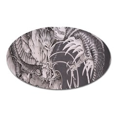 Chinese Dragon Tattoo Oval Magnet