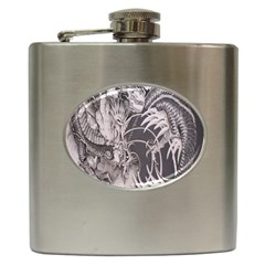 Chinese Dragon Tattoo Hip Flask (6 oz)