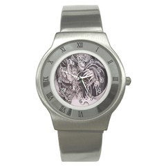 Chinese Dragon Tattoo Stainless Steel Watch
