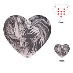 Chinese Dragon Tattoo Playing Cards (Heart)