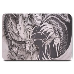 Chinese Dragon Tattoo Large Doormat