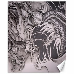 Chinese Dragon Tattoo Canvas 11  x 14
