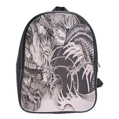 Chinese Dragon Tattoo School Bags(large)