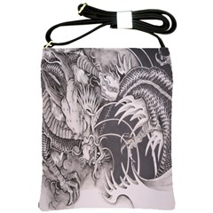 Chinese Dragon Tattoo Shoulder Sling Bags