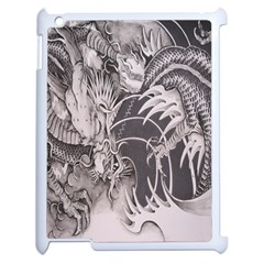 Chinese Dragon Tattoo Apple iPad 2 Case (White)