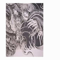 Chinese Dragon Tattoo Small Garden Flag (two Sides)