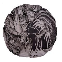 Chinese Dragon Tattoo Large 18  Premium Round Cushions