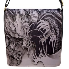 Chinese Dragon Tattoo Flap Messenger Bag (S)