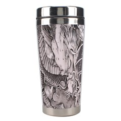 Chinese Dragon Tattoo Stainless Steel Travel Tumblers