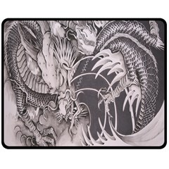 Chinese Dragon Tattoo Double Sided Fleece Blanket (medium)