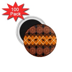 Traditiona  Patterns And African Patterns 1.75  Magnets (100 pack)