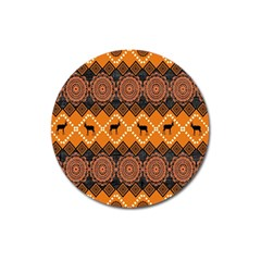 Traditiona  Patterns And African Patterns Magnet 3  (round)