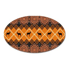 Traditiona  Patterns And African Patterns Oval Magnet