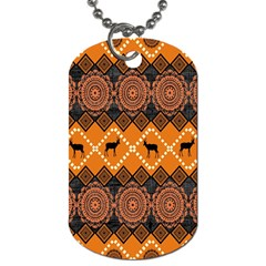 Traditiona  Patterns And African Patterns Dog Tag (Two Sides)