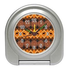 Traditiona  Patterns And African Patterns Travel Alarm Clocks