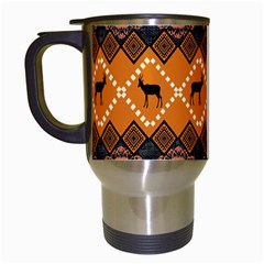 Traditiona  Patterns And African Patterns Travel Mugs (White)