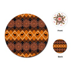 Traditiona  Patterns And African Patterns Playing Cards (Round)