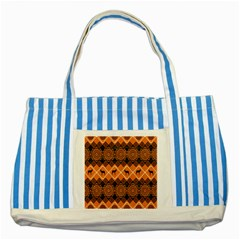 Traditiona  Patterns And African Patterns Striped Blue Tote Bag