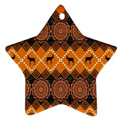 Traditiona  Patterns And African Patterns Star Ornament (Two Sides)